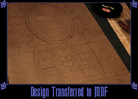Magic Mirror Facade Pattern Transferred onto MDF